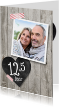 12,5 jaar hart foto hout