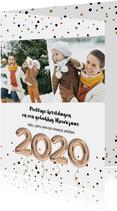 2020 Ballonnen kerstkaart
