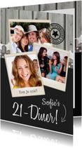 21-diner Uitnodiging Polaroids