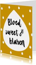4 daagse kaart Bloed, zweet & blaren, aanpasbare kleur