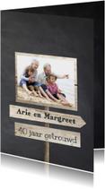 40 jaar getrouwd -  wegwijzers borden hout