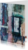 """Abstract kunstwerk """"Geheimen"""""""