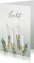 Adventskarte christlich vier Kerzen