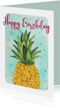 Ananas verjaardag vrolijk