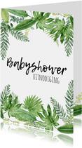 Babyshower uitnodiging | Botanisch