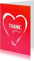 Bedank kaart rood hart