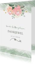 Bedankkaart boeket rozen