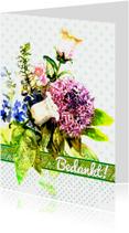 Bedankkaart, Bos bloemen