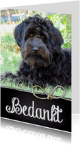 Bedankkaart hond Joey