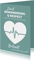 Bedankkaart hulpverleners bewondering en respect hartfilmpje