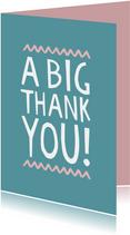 Bedankkaart internationaal a big thank you