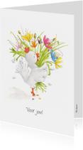 Bedankkaartje een bloemetje voor jou!