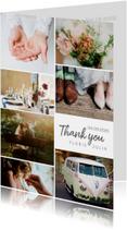 Bedankkaartje huwelijk fotocollage 7 foto's