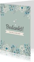Bedankkaartje Lentefeest stijlvol en hip met bloemen