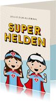 Bedankkaartje superhelden voor zorgverleners ziekenhuis