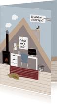 Bedankkaartje thuiswerken zolderkamer