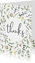 Bedankkaartjes | Thanks wilde bloemen