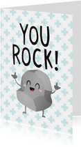 Bedankt hulpverleners grappig you rock rots