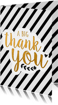 Bedankt - thank you in zwart/wit/goud