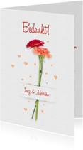 Bedankt trouwen bloemen RB
