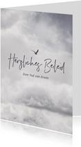 Beileidskarte Wolkenhimmel mit Vogel