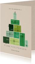 Bemoedigende zakelijke kerstkaart cadeautjes kerstboom