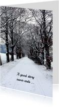 Condoleancekaarten - Besneeuwde bomen laan ME