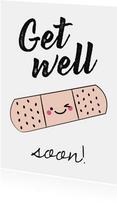 Beterschap Get well soon kaartje