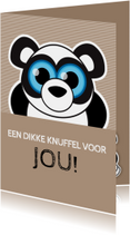 Beterschap knuffel panda - MG