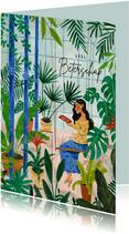 Beterschap mindfull lezen in plantenkas
