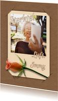 Beterschap selfie en bloem RB