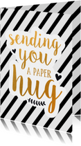 Beterschap - sending you a paper hug