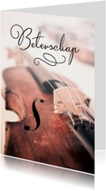 Beterschapskaarten - Beterschap viool muziek