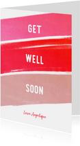 Beterschapskaart Get Well Soon krijt vrouw