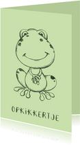 Beterschapskaart groen met getekende kikker
