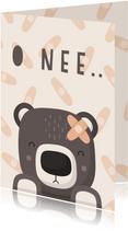 Beterschapskaart lieve beer met pleister