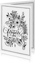 Beterschapskaart sending flowers