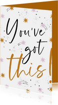Beterschapskaart 'You've got this' sterren en sterrenstof