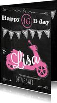 Birthday scooter 16 meisje-ByF