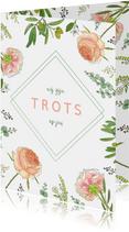 Bloemenkaart aquarel  rozen