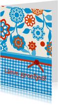 Bloemenkaart blauw2 collectie Linde
