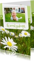 Bloemenkaart Madelief doop - BK
