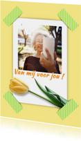 Bloemenkaart selfie tulp RB1
