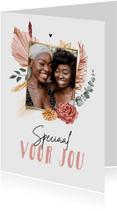 Bloemenkaart zomaar speciaal voor jou droogbloemen foto