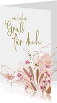 Blumengrußkarte 'Für dich'