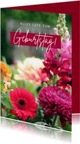 Blumenkarte Glückwunsch Geburtstag