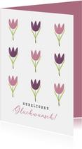 Blumenkarte zum Geburtstag mit Tulpen