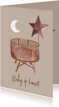 Bohemian felicitatiekaartje zwangerschap baby op komst