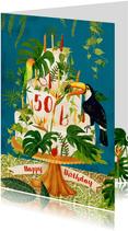 Botanisch versierde verjaardagstaart