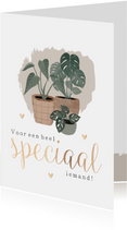 Botanische kaart 'Voor een heel speciaal iemand'